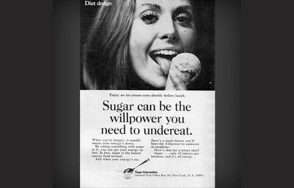 publicidad antigua sobre el azucar